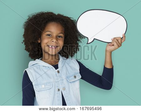 African Little Kid Studio Portrait Concept