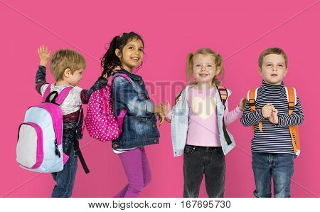 Diversity Of Kids Having Fun Smiling