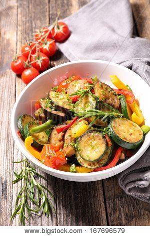 fried vegetable,ratatouille