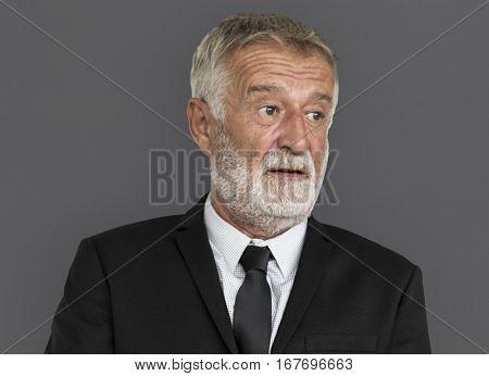 Caucasian Business Man Thinking Concept