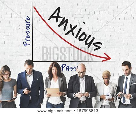 Anxious Business People Concept