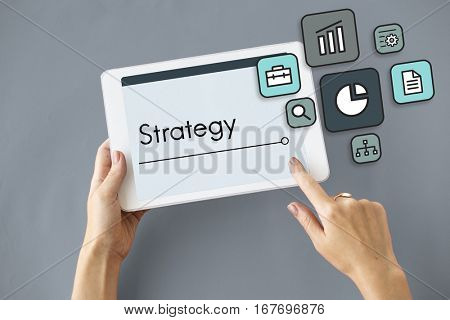 Planning Strategy Marketing Startup Icon
