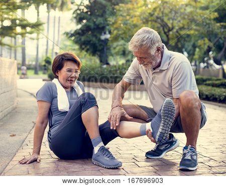 Senior Adult Exercise Pain Injury Ache