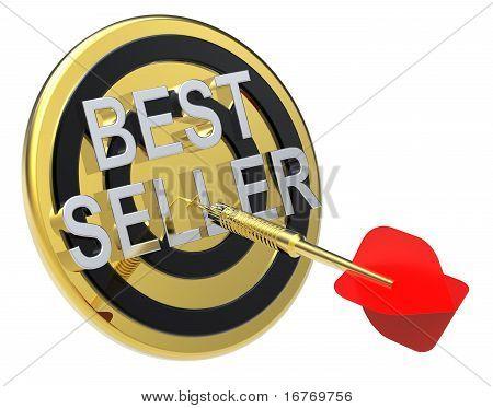 红色 dart 黄金目标上用上它的文本。