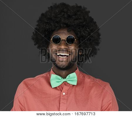 African Descent Man Sunglasses Happy