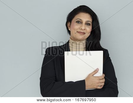 Indian Asian Woman Business Documents Concept