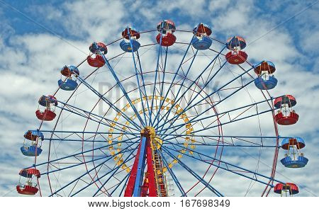 the Ferris wheel with space for text