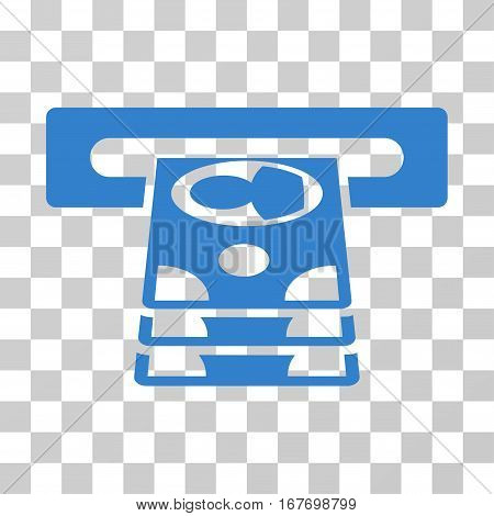 Cashpoint icon. Vector illustration style is flat iconic symbol cobalt color transparent background. Designed for web and software interfaces.