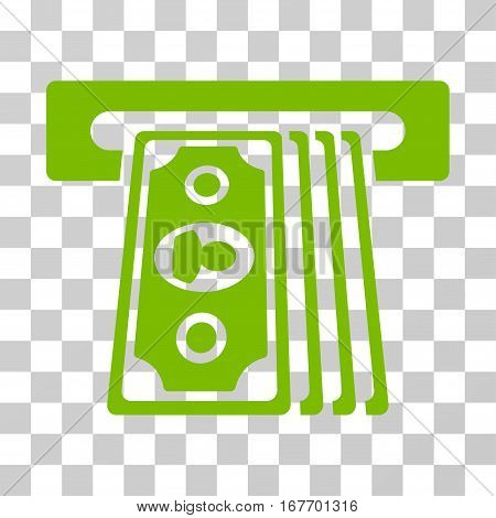 Cashpoint Terminal icon. Vector illustration style is flat iconic symbol eco green color transparent background. Designed for web and software interfaces.