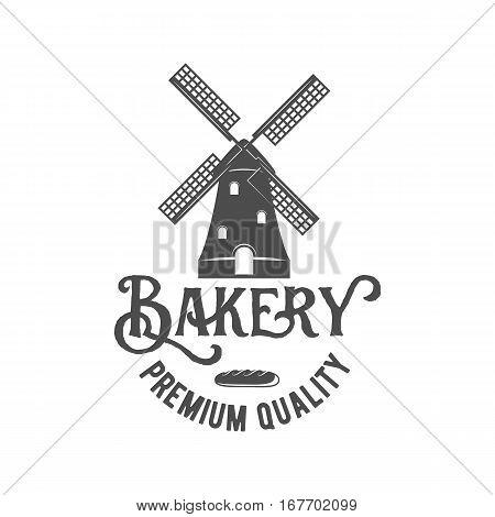 Bakery badge, logo icon modern style vector. Retro logotype and design elements isolated on white background