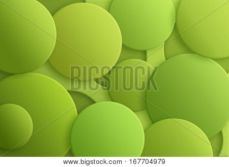Greenery - Pantone color of the year 2017. Fashion abstract background. Bubbles with different trendy green shadows