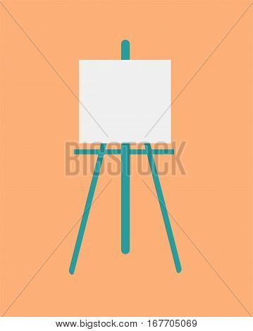 icon easel flat design vector illustration.symbol icon easel flat design vector illustration.symbol art education