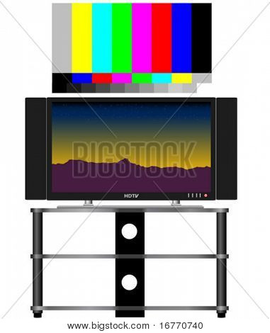 HDTV and real 16x9 video test pattern, color-correct.