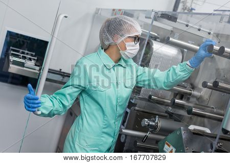 Plant Picture, Scientist Work With Machine, Show Thumb Up