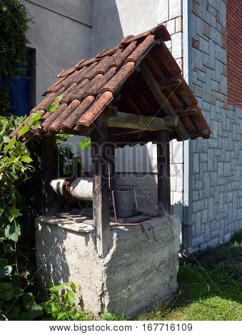 old rural water well in the Serbian hinterland