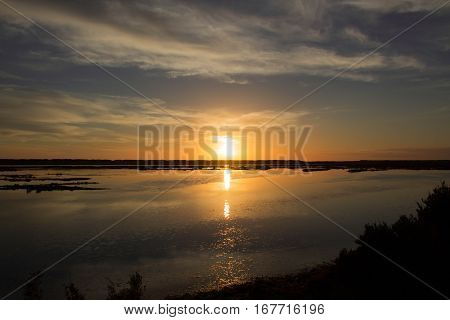 Por de Sol na Quinta do lago Algarve Portugal. Onde of the most amazing places in Algarve Quinta do lago. Sunset