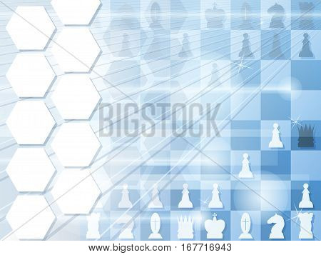 Abstract background with chessboard. Checkmate. Vector illustration