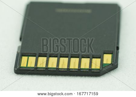Old Sd Memory Card With Scratch Contact