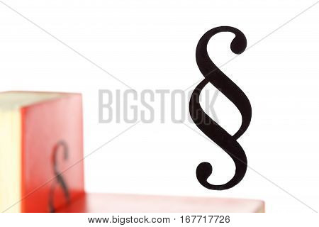right and law symbol on white background