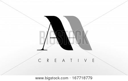 A H Letter Logo Design. Creative Modern AH Letters Icon Illustration.