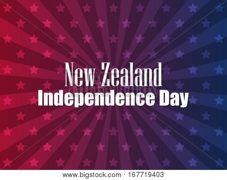 New Zealand Independence Day. Festive banner with stars and text. Vector illustration