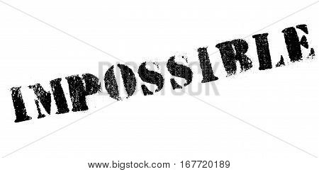 Impossible rubber stamp. Grunge design with dust scratches. Effects can be easily removed for a clean, crisp look. Color is easily changed.