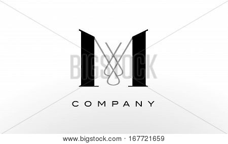 M Letter Logo Design. Creative Modern M Letters Icon Illustration.