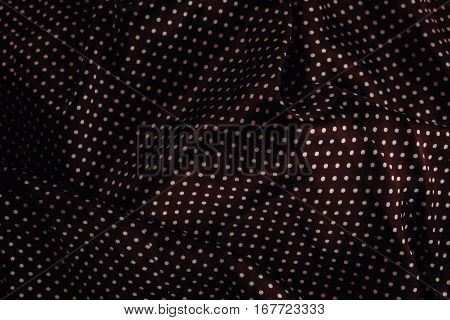 Silk Fabric With Polka Dots