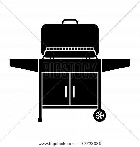 Outdoor grill ( shade picture ) on whte