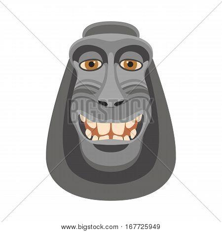 monkey head mask   vector illustration style Flat