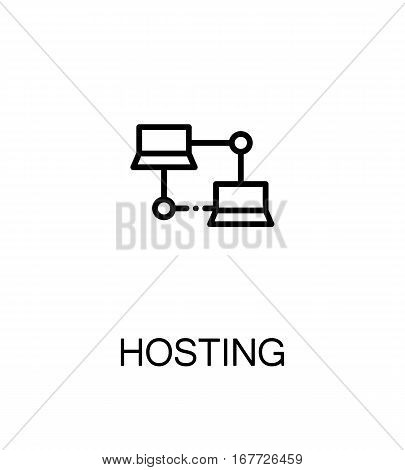 Hosting icon. Single high quality outline symbol for web design or mobile app. Thin line sign for design logo. Black outline pictogram on white background