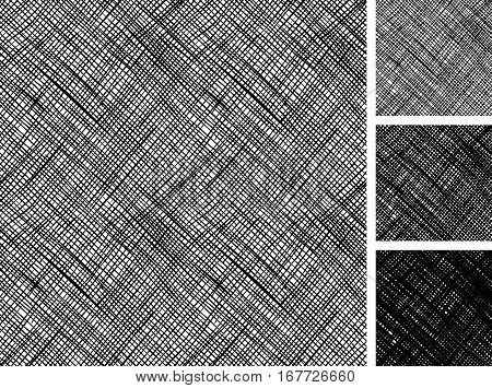 Seamless pattern of hand drawn sketches rough cross hatching grunge pattern. texture has three different shades: light mid and dark tone.
