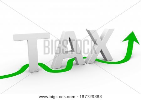 to avoid the tax on white background 3D illustration