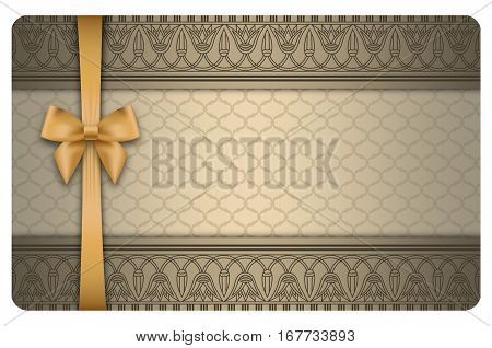 Business card oe gift card template. Vintage background with decorative elements.