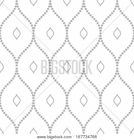 Seamless ornament. Modern geometric pattern with repeating elements. Light silver pattern