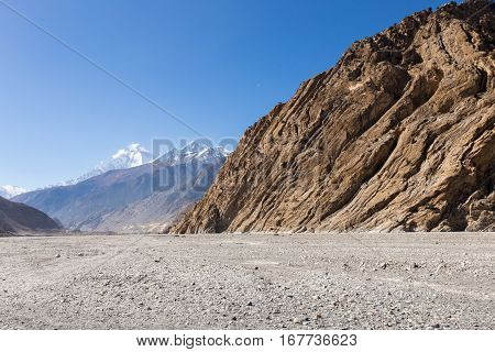 Kali Gandaki river valley Mustang region Himalayas Nepal