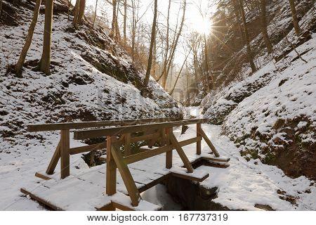The Dragon Gorge of Eisenach in Thuringia