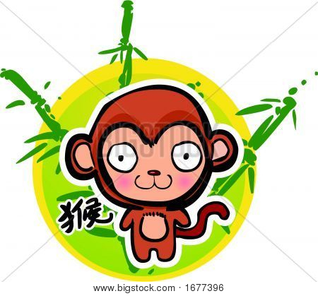 Cartoon Chinese Zodiac - Monkey