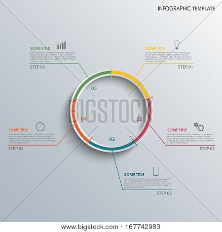 Info graphic with progress design colored round template vector eps 10