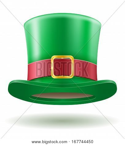 saint patrick's day leprechaun hat stock vector illustration isolated on white background