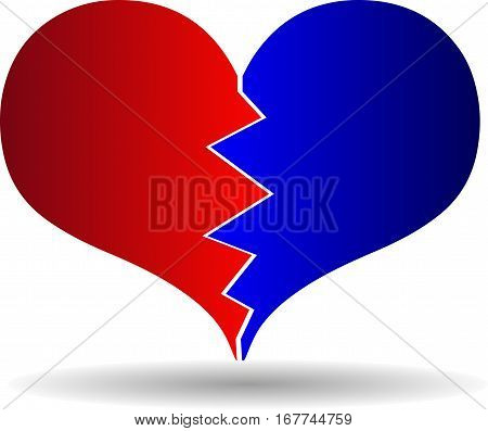 bursting heart , broken heart , vector ,