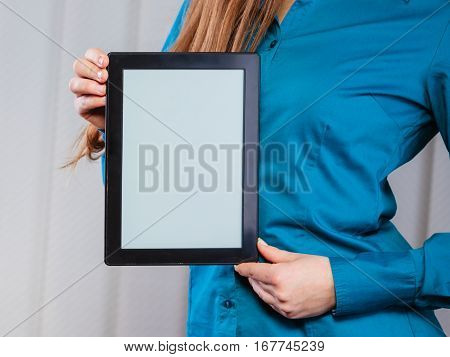 Young Office Worker Hold Tablet Pc.