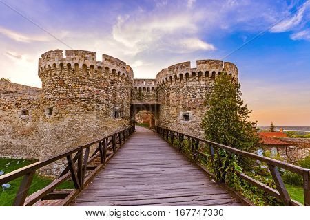 Kalemegdan fortress Beograd - Serbia - architecture travel background