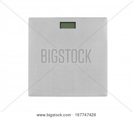 Metal weight scale isolated on white background