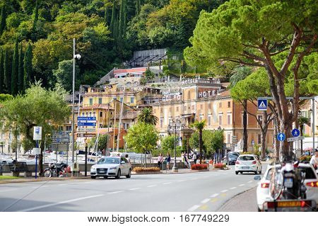 Toscolano-maderno, Italy - September 18, 2016: Beautiful Views Of Toscolano-maderno, A Town And Comu