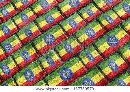 Ethiopian Urban Grunge Pattern