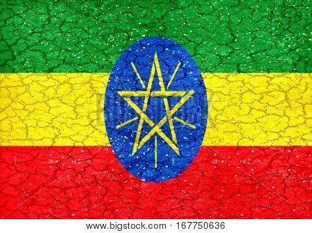 Ethiopian Grunge Flag
