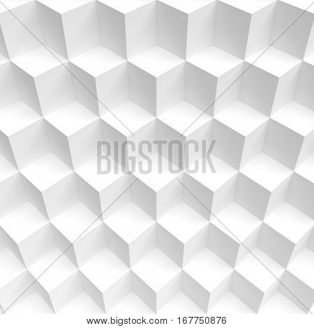 Minimal Cube Background. Modern Engineering Concept. 3d Illustration