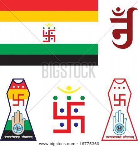 Jain Emblem, Flag, Swastica