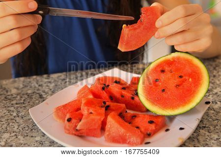 Cut Asian Water Melon